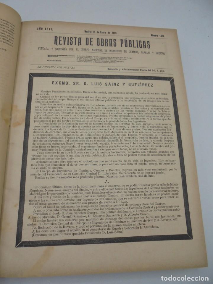 Libros antiguos: REVISTA DE OBRAS PUBLICAS. AÑO XLVI SERIE 7ª. AÑO COMPLETO. 1899. TOMO I Y II. VER FOTOS - Foto 8 - 275226183