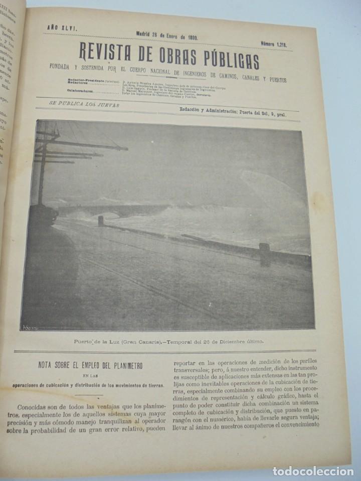 Libros antiguos: REVISTA DE OBRAS PUBLICAS. AÑO XLVI SERIE 7ª. AÑO COMPLETO. 1899. TOMO I Y II. VER FOTOS - Foto 11 - 275226183