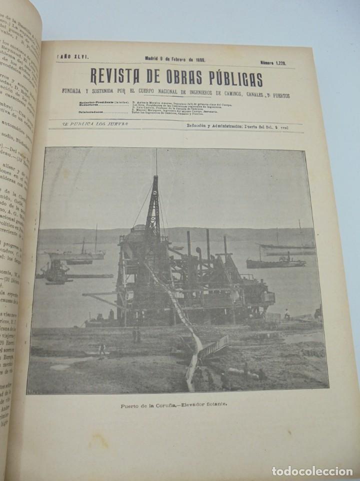 Libros antiguos: REVISTA DE OBRAS PUBLICAS. AÑO XLVI SERIE 7ª. AÑO COMPLETO. 1899. TOMO I Y II. VER FOTOS - Foto 13 - 275226183