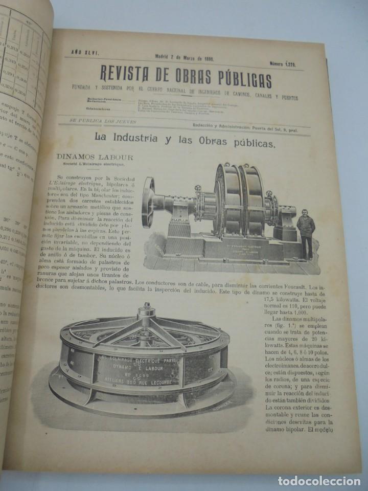 Libros antiguos: REVISTA DE OBRAS PUBLICAS. AÑO XLVI SERIE 7ª. AÑO COMPLETO. 1899. TOMO I Y II. VER FOTOS - Foto 17 - 275226183