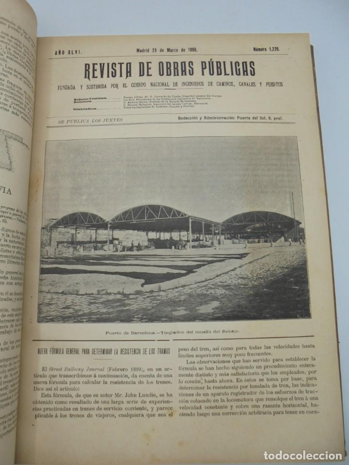 Libros antiguos: REVISTA DE OBRAS PUBLICAS. AÑO XLVI SERIE 7ª. AÑO COMPLETO. 1899. TOMO I Y II. VER FOTOS - Foto 21 - 275226183