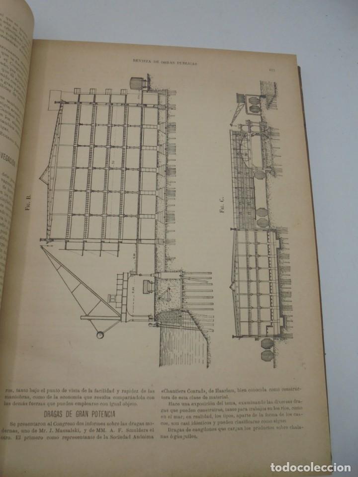 Libros antiguos: REVISTA DE OBRAS PUBLICAS. AÑO XLVI SERIE 7ª. AÑO COMPLETO. 1899. TOMO I Y II. VER FOTOS - Foto 24 - 275226183