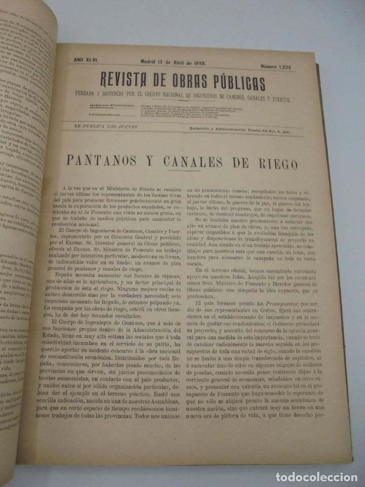 Libros antiguos: REVISTA DE OBRAS PUBLICAS. AÑO XLVI SERIE 7ª. AÑO COMPLETO. 1899. TOMO I Y II. VER FOTOS - Foto 25 - 275226183