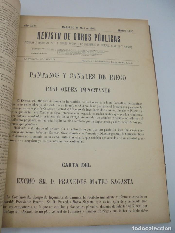 Libros antiguos: REVISTA DE OBRAS PUBLICAS. AÑO XLVI SERIE 7ª. AÑO COMPLETO. 1899. TOMO I Y II. VER FOTOS - Foto 26 - 275226183