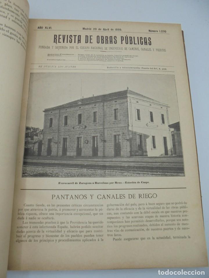 Libros antiguos: REVISTA DE OBRAS PUBLICAS. AÑO XLVI SERIE 7ª. AÑO COMPLETO. 1899. TOMO I Y II. VER FOTOS - Foto 27 - 275226183