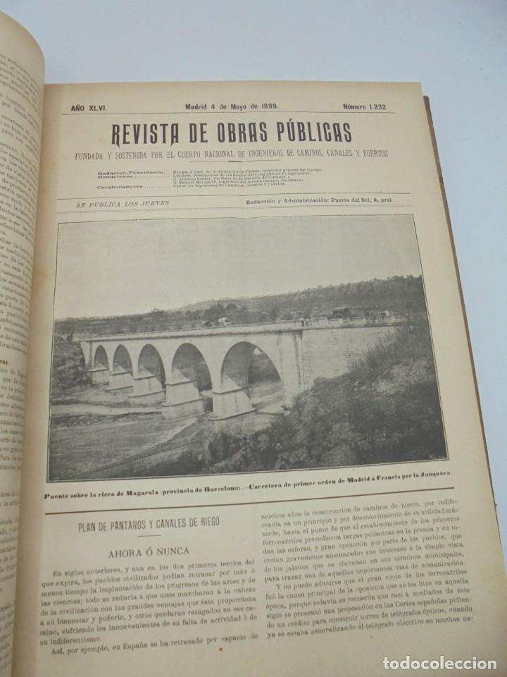 Libros antiguos: REVISTA DE OBRAS PUBLICAS. AÑO XLVI SERIE 7ª. AÑO COMPLETO. 1899. TOMO I Y II. VER FOTOS - Foto 29 - 275226183