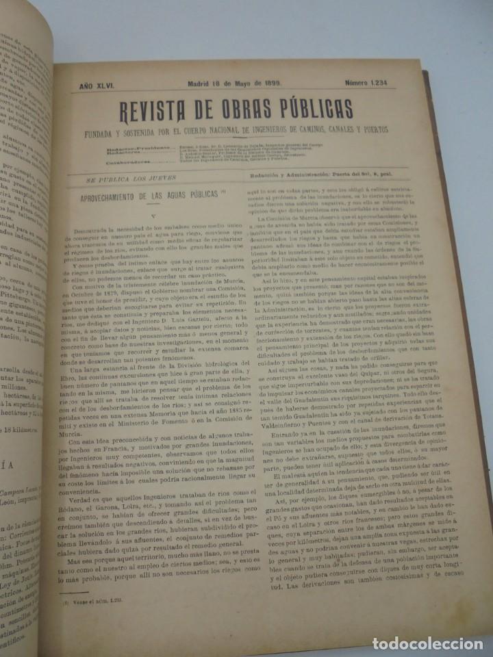Libros antiguos: REVISTA DE OBRAS PUBLICAS. AÑO XLVI SERIE 7ª. AÑO COMPLETO. 1899. TOMO I Y II. VER FOTOS - Foto 31 - 275226183