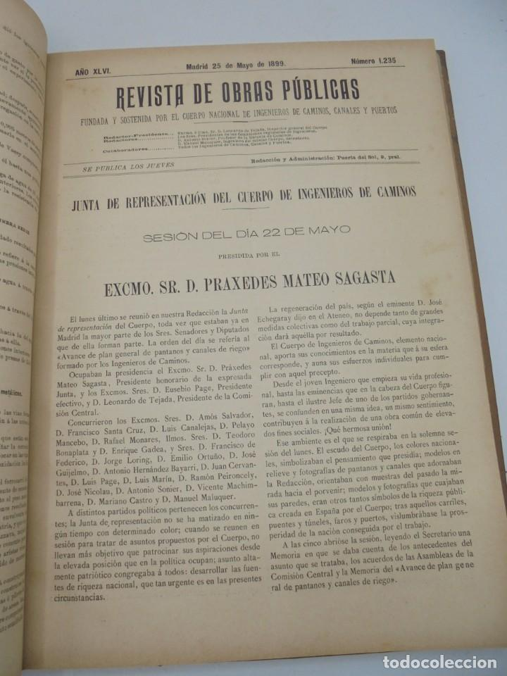 Libros antiguos: REVISTA DE OBRAS PUBLICAS. AÑO XLVI SERIE 7ª. AÑO COMPLETO. 1899. TOMO I Y II. VER FOTOS - Foto 33 - 275226183
