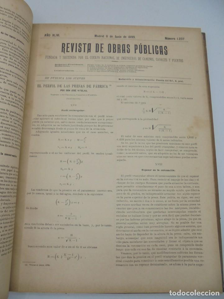 Libros antiguos: REVISTA DE OBRAS PUBLICAS. AÑO XLVI SERIE 7ª. AÑO COMPLETO. 1899. TOMO I Y II. VER FOTOS - Foto 35 - 275226183