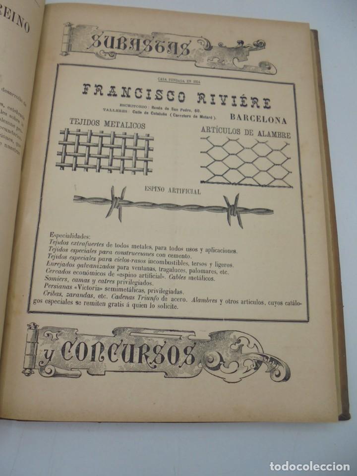 Libros antiguos: REVISTA DE OBRAS PUBLICAS. AÑO XLVI SERIE 7ª. AÑO COMPLETO. 1899. TOMO I Y II. VER FOTOS - Foto 36 - 275226183