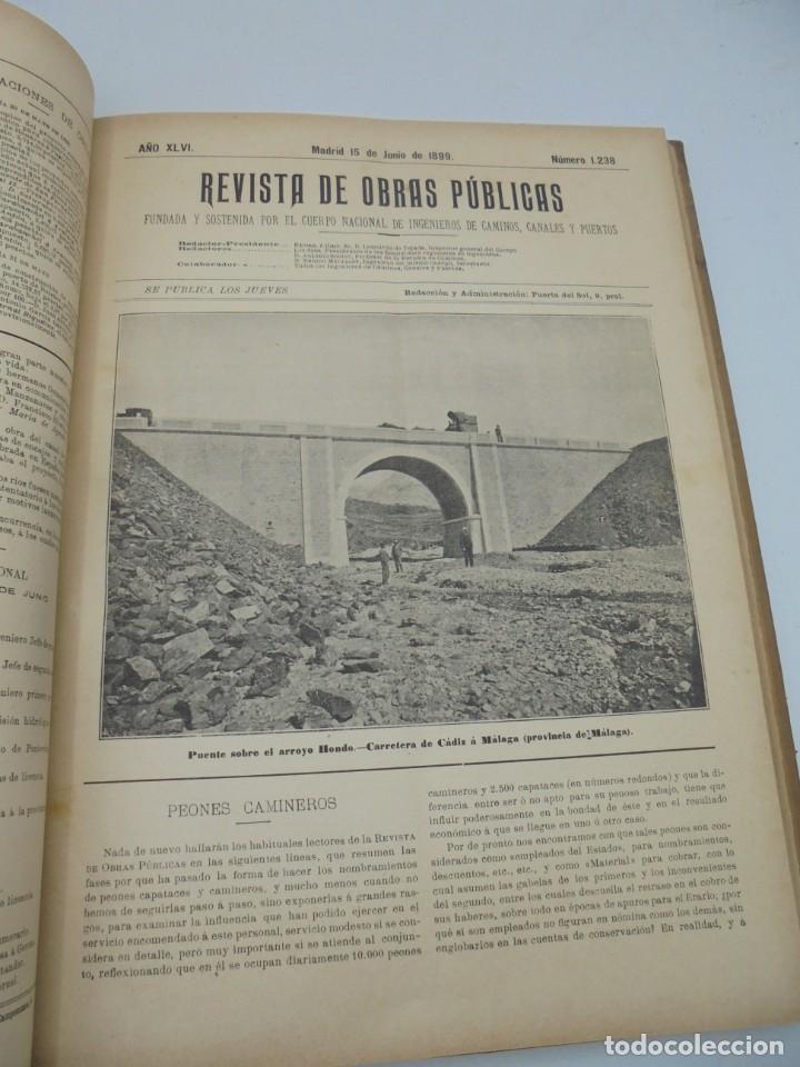 Libros antiguos: REVISTA DE OBRAS PUBLICAS. AÑO XLVI SERIE 7ª. AÑO COMPLETO. 1899. TOMO I Y II. VER FOTOS - Foto 37 - 275226183