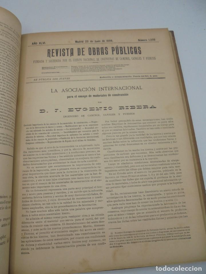 Libros antiguos: REVISTA DE OBRAS PUBLICAS. AÑO XLVI SERIE 7ª. AÑO COMPLETO. 1899. TOMO I Y II. VER FOTOS - Foto 38 - 275226183