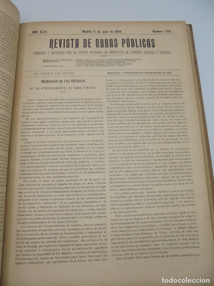 Libros antiguos: REVISTA DE OBRAS PUBLICAS. AÑO XLVI SERIE 7ª. AÑO COMPLETO. 1899. TOMO I Y II. VER FOTOS - Foto 40 - 275226183