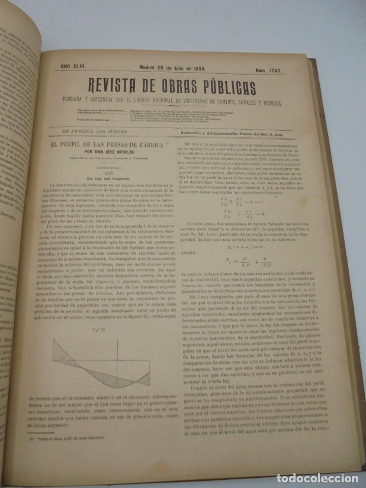 Libros antiguos: REVISTA DE OBRAS PUBLICAS. AÑO XLVI SERIE 7ª. AÑO COMPLETO. 1899. TOMO I Y II. VER FOTOS - Foto 42 - 275226183