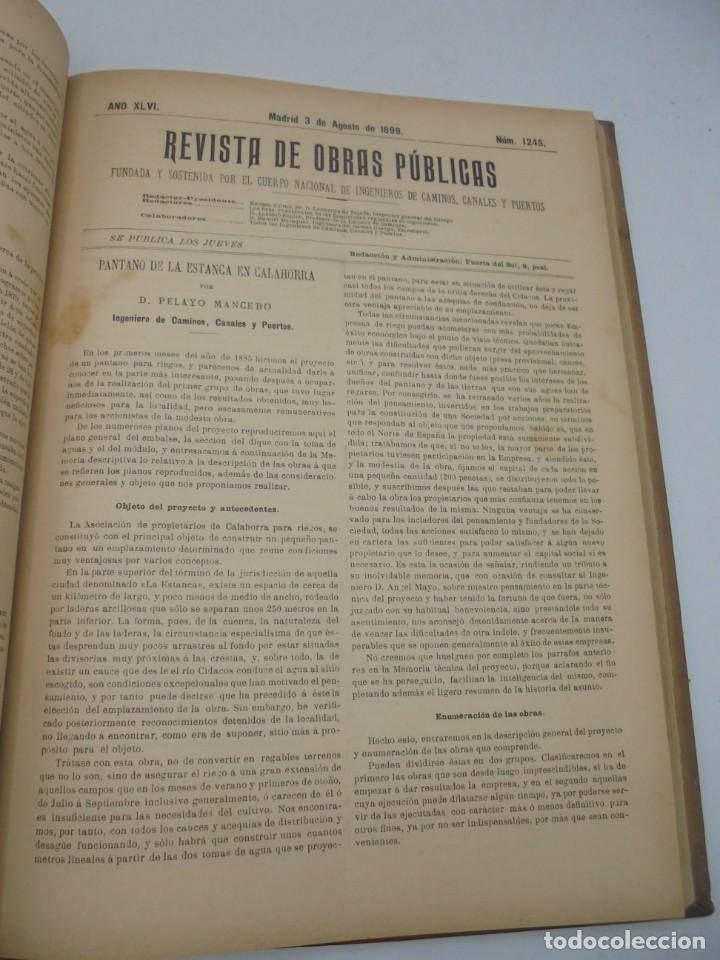 Libros antiguos: REVISTA DE OBRAS PUBLICAS. AÑO XLVI SERIE 7ª. AÑO COMPLETO. 1899. TOMO I Y II. VER FOTOS - Foto 44 - 275226183