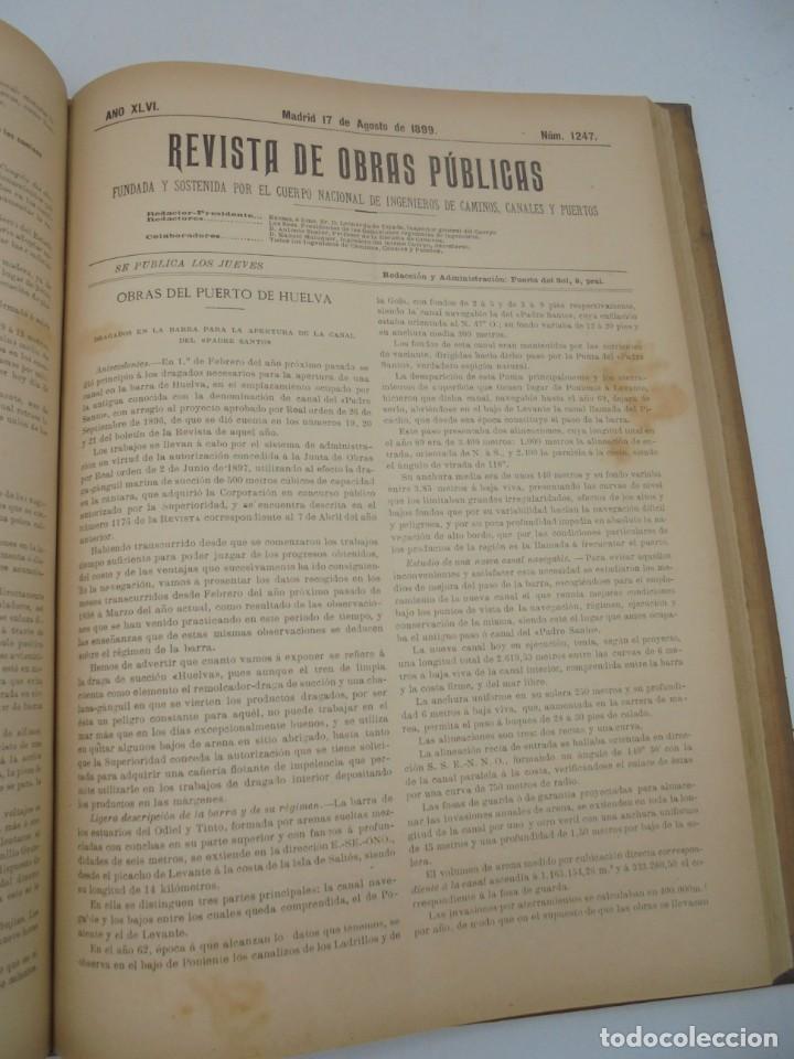 Libros antiguos: REVISTA DE OBRAS PUBLICAS. AÑO XLVI SERIE 7ª. AÑO COMPLETO. 1899. TOMO I Y II. VER FOTOS - Foto 47 - 275226183