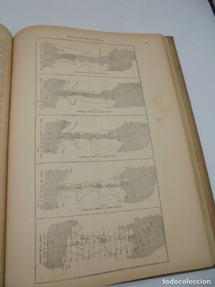 Libros antiguos: REVISTA DE OBRAS PUBLICAS. AÑO XLVI SERIE 7ª. AÑO COMPLETO. 1899. TOMO I Y II. VER FOTOS - Foto 48 - 275226183