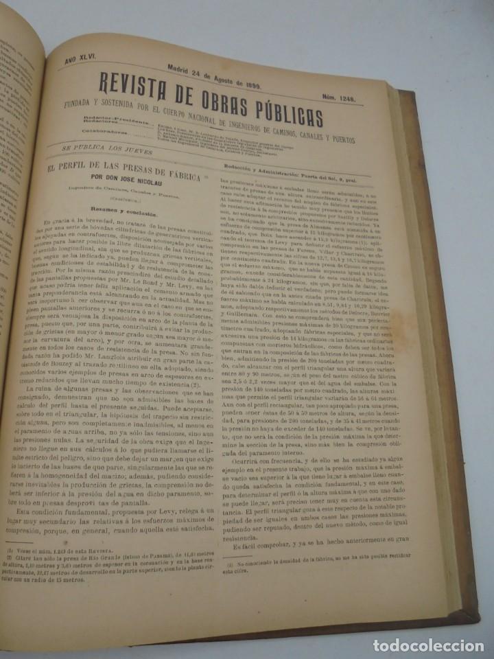 Libros antiguos: REVISTA DE OBRAS PUBLICAS. AÑO XLVI SERIE 7ª. AÑO COMPLETO. 1899. TOMO I Y II. VER FOTOS - Foto 50 - 275226183