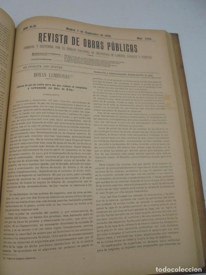 Libros antiguos: REVISTA DE OBRAS PUBLICAS. AÑO XLVI SERIE 7ª. AÑO COMPLETO. 1899. TOMO I Y II. VER FOTOS - Foto 53 - 275226183