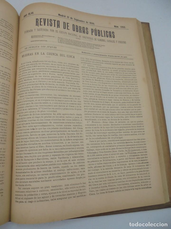 Libros antiguos: REVISTA DE OBRAS PUBLICAS. AÑO XLVI SERIE 7ª. AÑO COMPLETO. 1899. TOMO I Y II. VER FOTOS - Foto 55 - 275226183