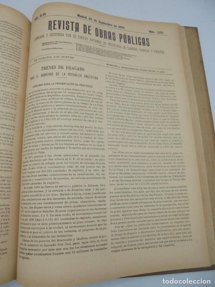 Libros antiguos: REVISTA DE OBRAS PUBLICAS. AÑO XLVI SERIE 7ª. AÑO COMPLETO. 1899. TOMO I Y II. VER FOTOS - Foto 56 - 275226183