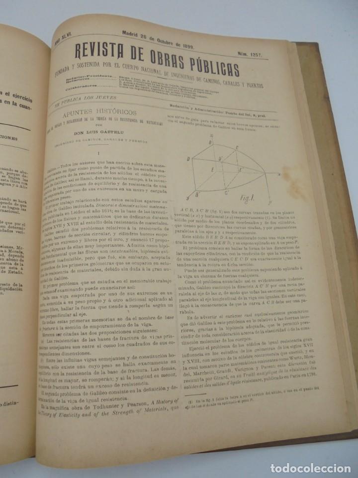 Libros antiguos: REVISTA DE OBRAS PUBLICAS. AÑO XLVI SERIE 7ª. AÑO COMPLETO. 1899. TOMO I Y II. VER FOTOS - Foto 59 - 275226183