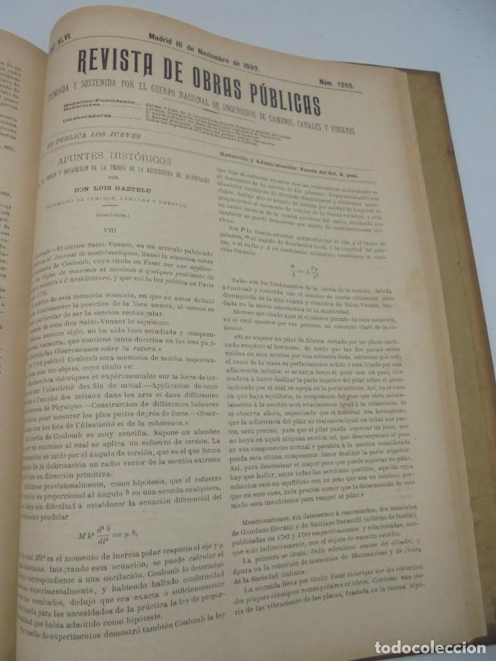 Libros antiguos: REVISTA DE OBRAS PUBLICAS. AÑO XLVI SERIE 7ª. AÑO COMPLETO. 1899. TOMO I Y II. VER FOTOS - Foto 62 - 275226183