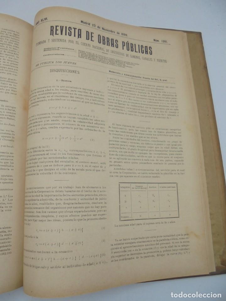 Libros antiguos: REVISTA DE OBRAS PUBLICAS. AÑO XLVI SERIE 7ª. AÑO COMPLETO. 1899. TOMO I Y II. VER FOTOS - Foto 63 - 275226183
