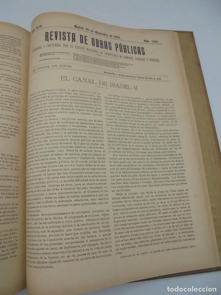 Libros antiguos: REVISTA DE OBRAS PUBLICAS. AÑO XLVI SERIE 7ª. AÑO COMPLETO. 1899. TOMO I Y II. VER FOTOS - Foto 64 - 275226183