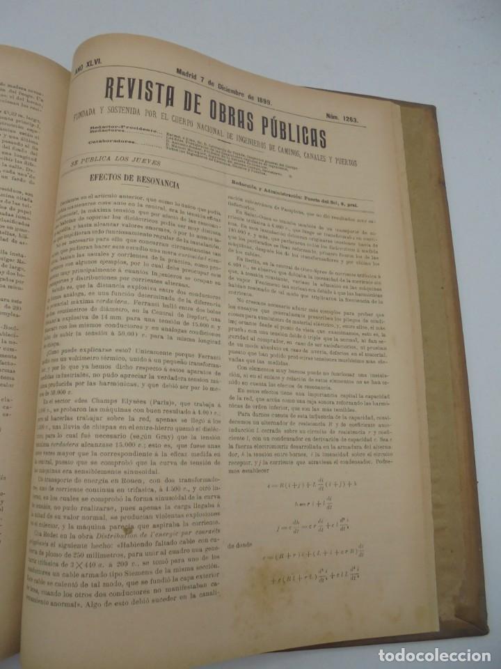 Libros antiguos: REVISTA DE OBRAS PUBLICAS. AÑO XLVI SERIE 7ª. AÑO COMPLETO. 1899. TOMO I Y II. VER FOTOS - Foto 66 - 275226183