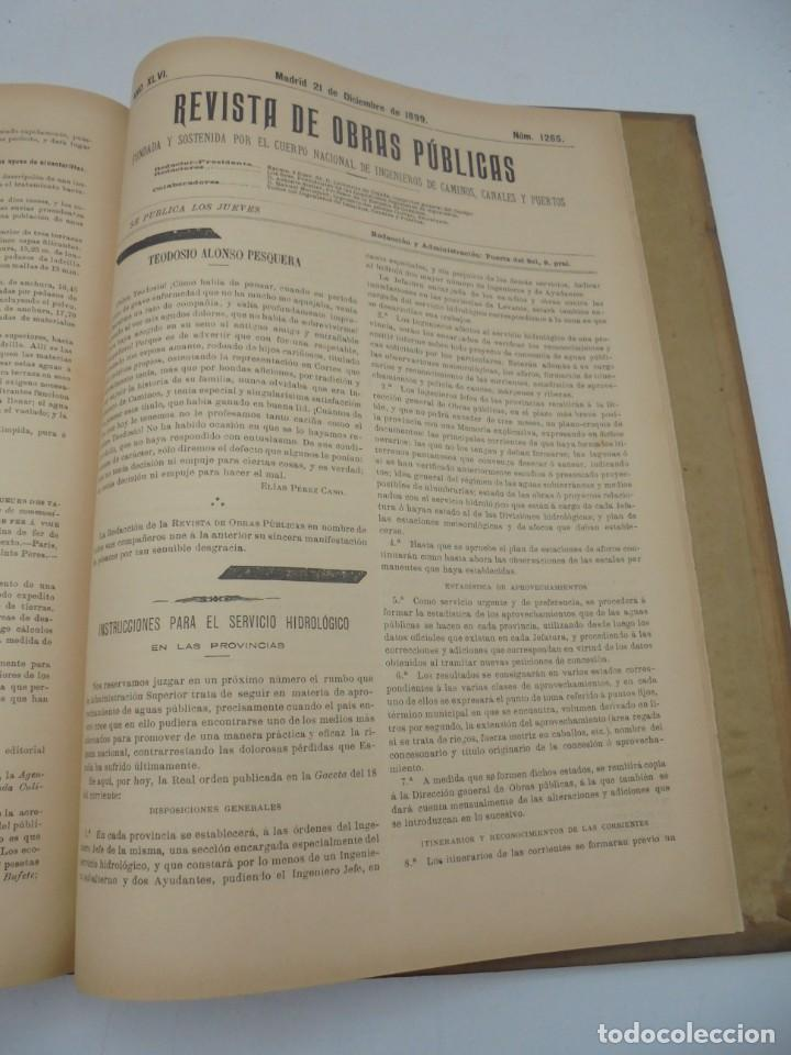 Libros antiguos: REVISTA DE OBRAS PUBLICAS. AÑO XLVI SERIE 7ª. AÑO COMPLETO. 1899. TOMO I Y II. VER FOTOS - Foto 69 - 275226183