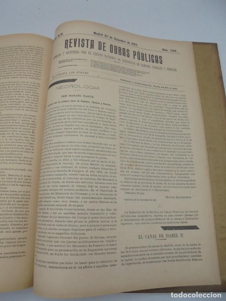 Libros antiguos: REVISTA DE OBRAS PUBLICAS. AÑO XLVI SERIE 7ª. AÑO COMPLETO. 1899. TOMO I Y II. VER FOTOS - Foto 70 - 275226183