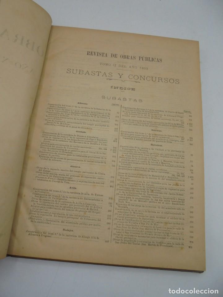 Libros antiguos: REVISTA DE OBRAS PUBLICAS. AÑO XLVI SERIE 7ª. AÑO COMPLETO. 1899. TOMO I Y II. VER FOTOS - Foto 75 - 275226183