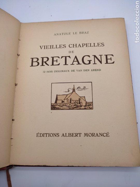 Libros antiguos: Vieilles chapelles bretagne por Albert Morance sólo 100 ejemplares - Foto 2 - 275500058