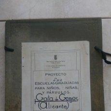 Libros antiguos: PROYECTO ARQUITECTÓNICO DE UNA ESCUELA GATA DE GORGOS ALICANTE 1934 II REPUBLICA PLANOS. Lote 275880018