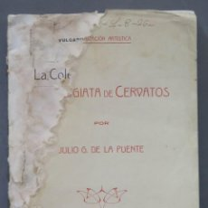 Libros antiguos: 1915.- LA COLEGIATA DE CERVATOS. DE LA PUENTE. Lote 276000258