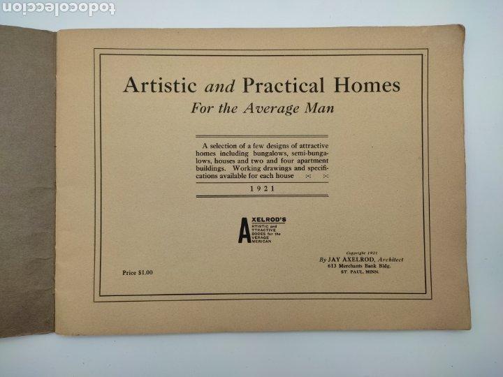Libros antiguos: Artistic practical homes año 1921 planos de casas - Foto 2 - 276058023
