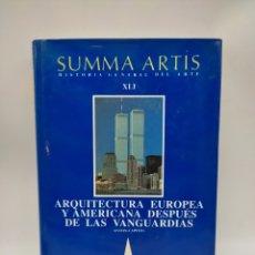 Libros antiguos: SUMA ARTIS ARQUITECTURA EUROPEA Y AMERICA DESPUÉS DE LAS VANGUARDIAS. Lote 276218078
