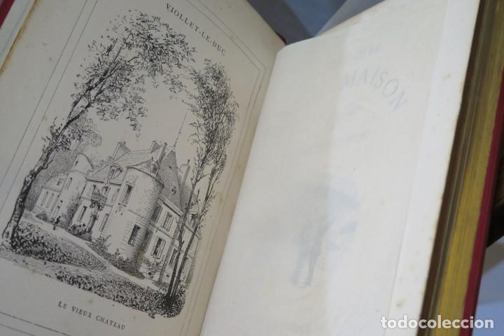 Libros antiguos: HISTOIRE DUNE MAISON. VIOLLET- LE-DUC - Foto 3 - 277082083