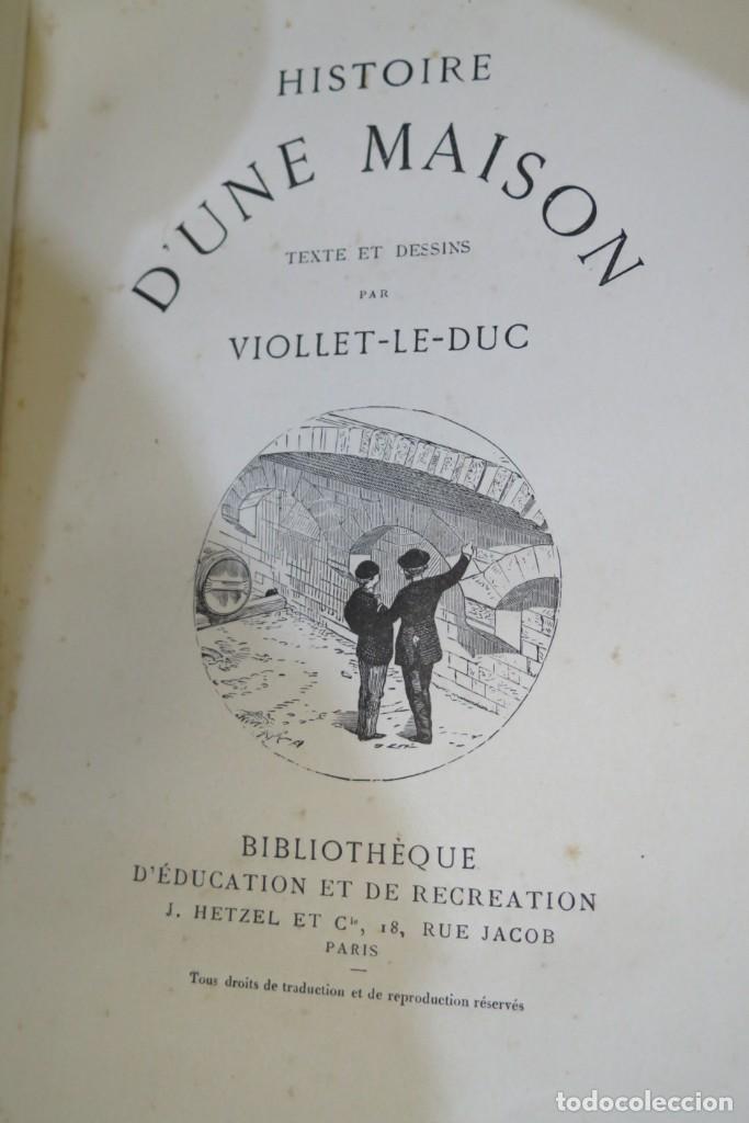 Libros antiguos: HISTOIRE DUNE MAISON. VIOLLET- LE-DUC - Foto 4 - 277082083