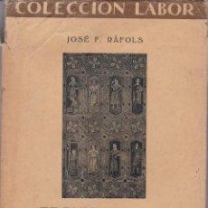 Libros antiguos: JOSÉ RAFOLS: TECHUMBRES Y ARTESONADOS ESPAÑOLES. Lote 277705078