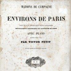 Libros antiguos: L'ARQUITECTURE. MAISONS DE CHAMPAGNE DES ENVIRONS DE PARIS. Lote 278601633