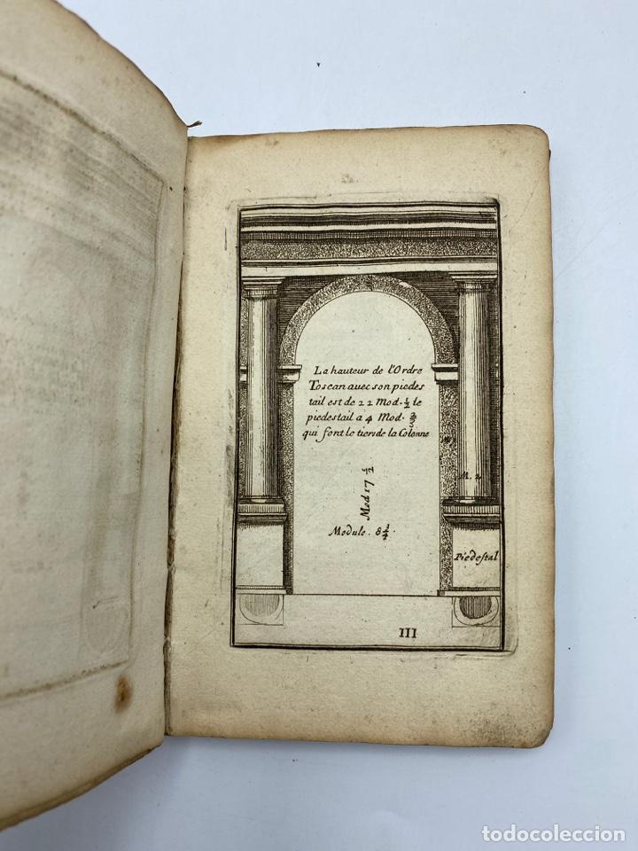 Libros antiguos: REGLE DES CINQ ORDRES DARCHITECTURE DE VIGNOLE. PARIS, 1694. EN FRANCÉS - Foto 7 - 279357743