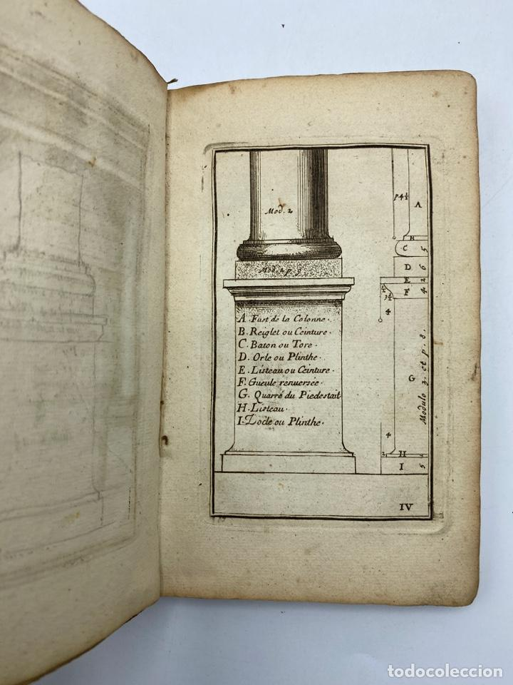 Libros antiguos: REGLE DES CINQ ORDRES DARCHITECTURE DE VIGNOLE. PARIS, 1694. EN FRANCÉS - Foto 8 - 279357743