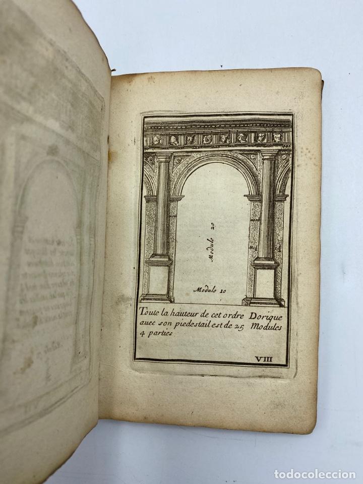 Libros antiguos: REGLE DES CINQ ORDRES DARCHITECTURE DE VIGNOLE. PARIS, 1694. EN FRANCÉS - Foto 12 - 279357743