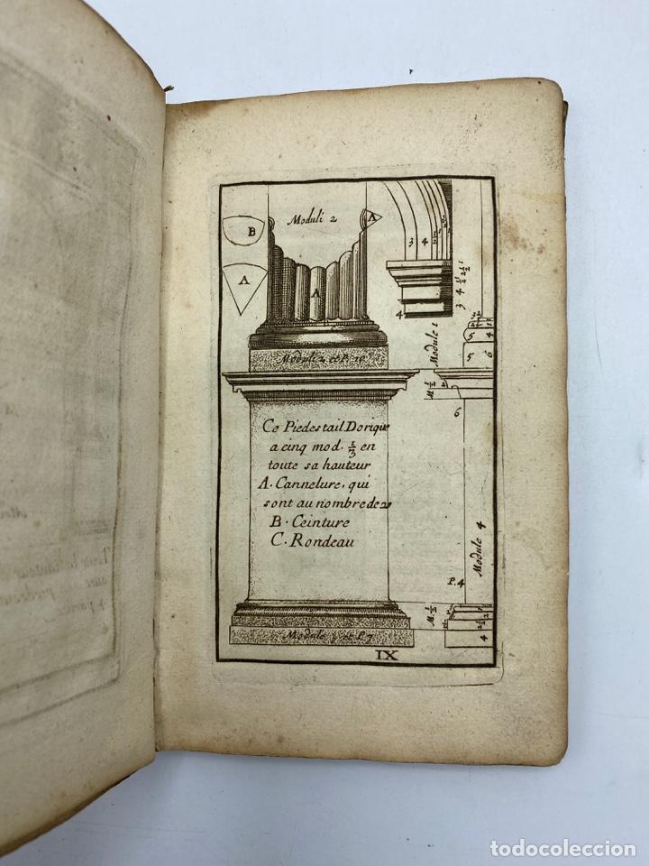 Libros antiguos: REGLE DES CINQ ORDRES DARCHITECTURE DE VIGNOLE. PARIS, 1694. EN FRANCÉS - Foto 13 - 279357743