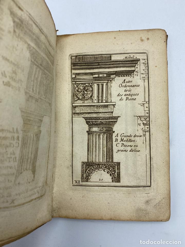 Libros antiguos: REGLE DES CINQ ORDRES DARCHITECTURE DE VIGNOLE. PARIS, 1694. EN FRANCÉS - Foto 15 - 279357743