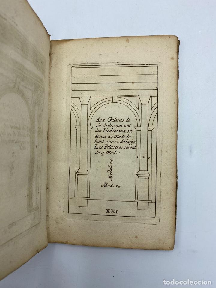 Libros antiguos: REGLE DES CINQ ORDRES DARCHITECTURE DE VIGNOLE. PARIS, 1694. EN FRANCÉS - Foto 25 - 279357743