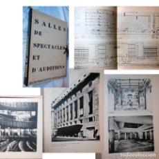 Libros antiguos: SALLES DE SPECTACLES ET D'AUDITIONS. 1927 ROGER POULAIN (DOCUMENTS RECUEILLIS ET PRESENTES PAR). Lote 279361838