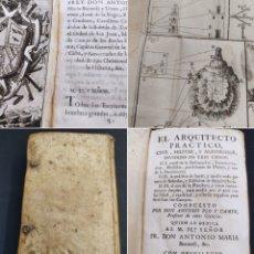 Libros antiguos: PLO Y CAMIN, ANTONIO EL ARQUITECTO PRACTICO, CIVIL, MILITAR, Y AGRIMENSOR IMP. PANTALEON 1767 1ª ED. Lote 283898843
